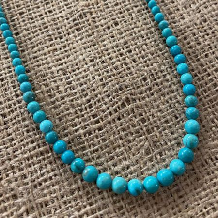 Azure Peaks Turquoise Rounds Necklace