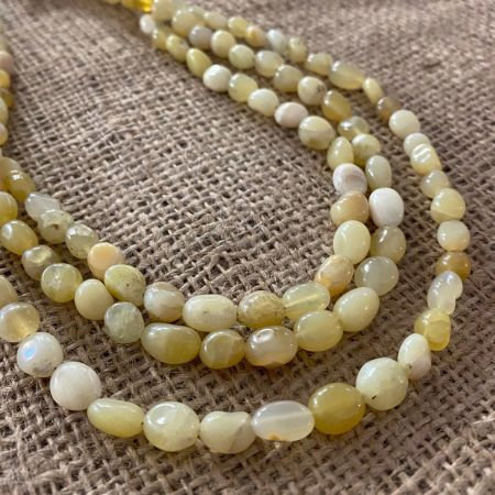 Yellow Opal Triple Strand Necklace
