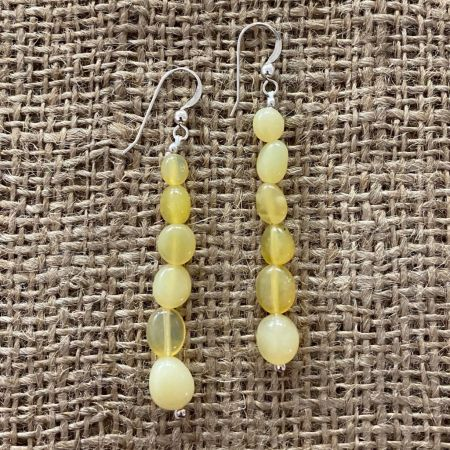 Yellow Opal Dangle Earrings