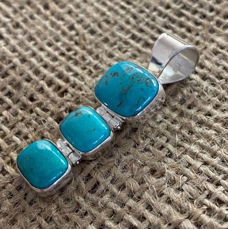 Iron Mountain Turquoise Trio Pendant