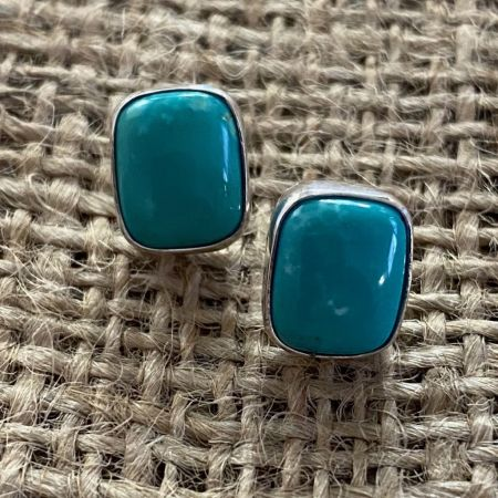 Iron Mountain Turquoise Stud Earrings