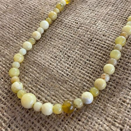 Yellow Opal Rounds Necklace