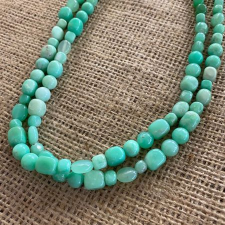 Chrysoprase Double Strand Necklace