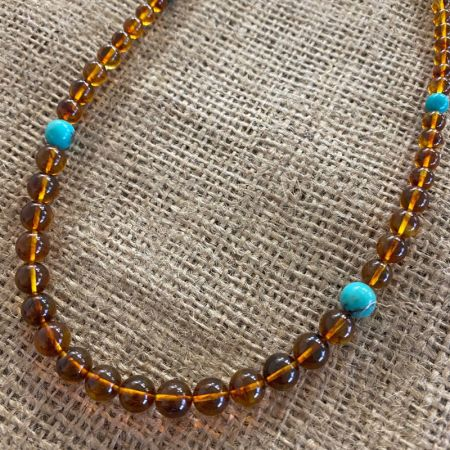 Campitos Turquoise and Amber Necklace