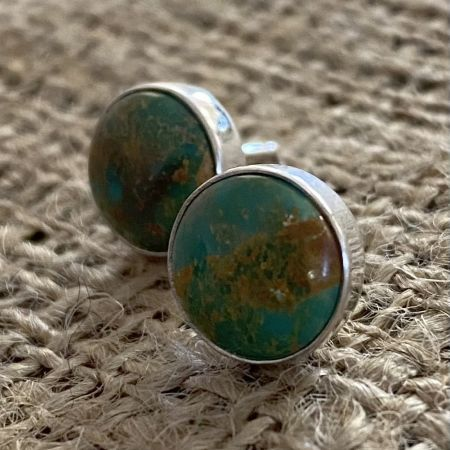 Green Turquoise Post Earrings