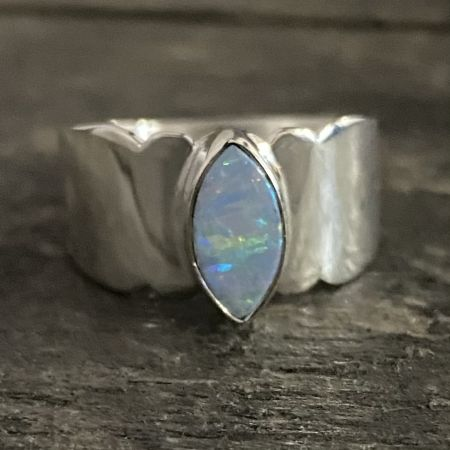 Synthetic Opal Ring - Size 8