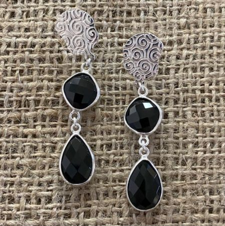 Midnight Chalcedony Post Earrings