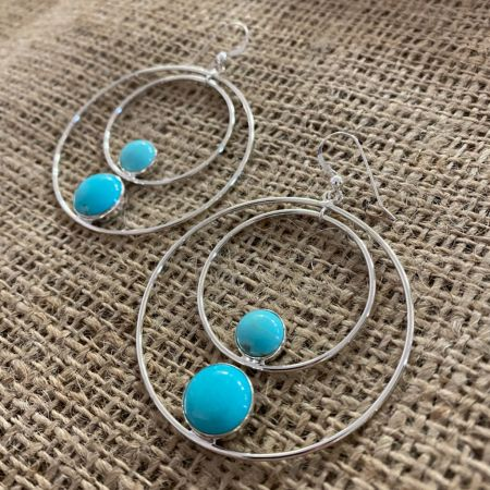 Campitos Turquoise Hoop Earrings