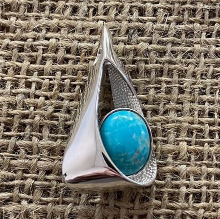 Contemporary Red Skin Turquoise Pendant