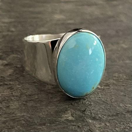 Anhui Turquoise Oval Ring