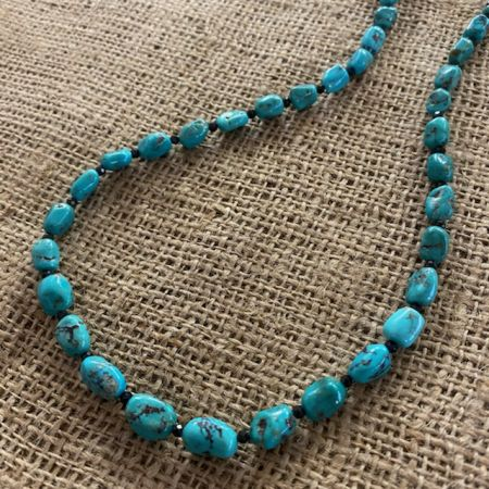 Seven Peaks Turquoise and Black Spinel Rope Necklace