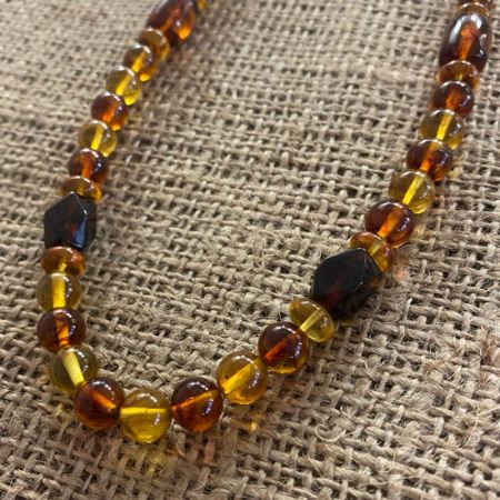 Amber Medley Necklace