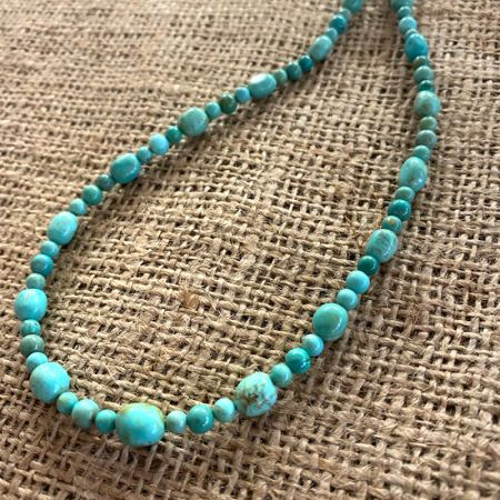 Chilean Turquoise Rope Necklace
