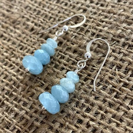 Sweet Faceted Aquamarine Earrings