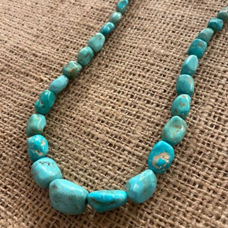 Chilean Turquoise Nugget Necklace