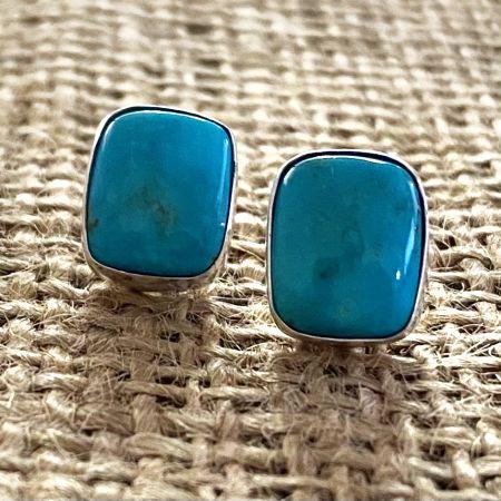 Royal Blue Turquoise Stud Earrings