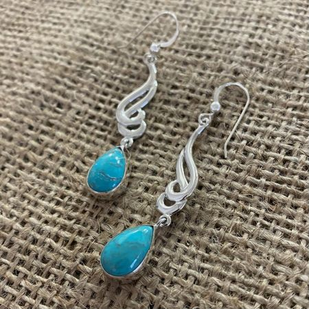 Turquoise Hill Tear Drop Dangle Earrings