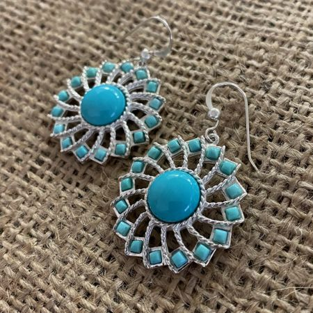 Campitos Turquoise Sunflower Earrings