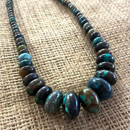 Hubei Turquoise Rondelle Necklace