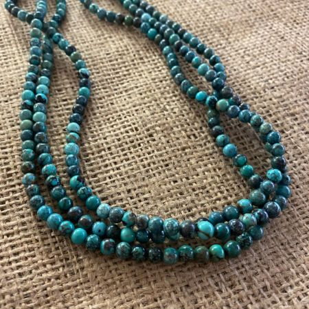 Three Strand Hubei Turquoise Necklace