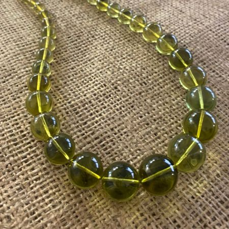 Green Amber Rounds Necklace