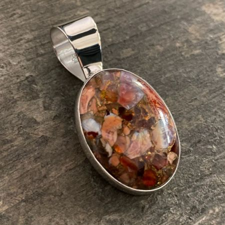 Jelly Fire Opal Pendant