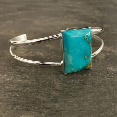 Anhui Turquoise Rectangle Split Cuff