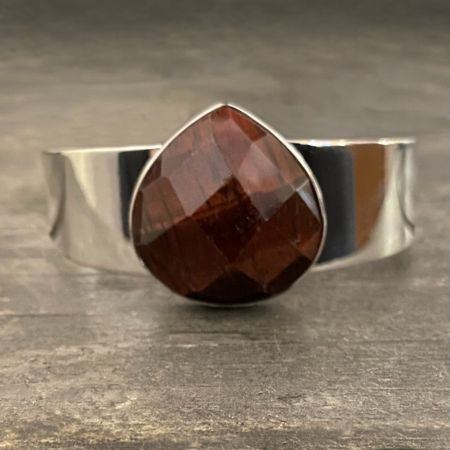 Faceted Red Tiger Eye Cuff