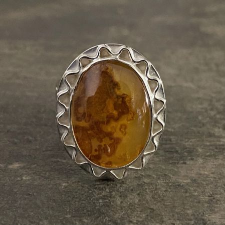 Yellow Agate Ring - Size 6