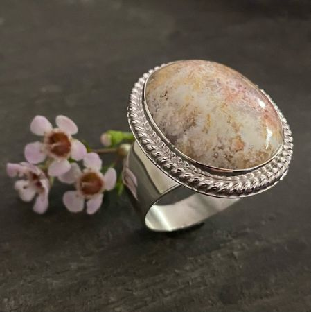 Graveyard Point Agate Ring - Size 12