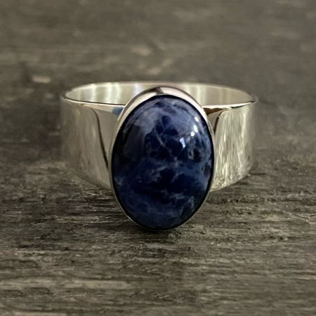 Sodalite Oval Ring - Size 11