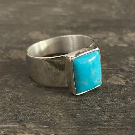 Turquoise Rectangle Ring - Size 7