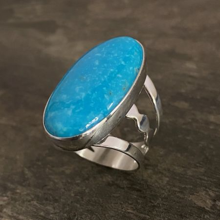 Kingman Blue Turquoise Ring - Size 8