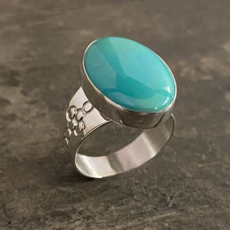 Chilean Turquoise Oval Ring