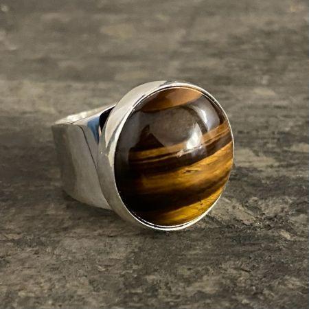 Tiger Eye Round Ring