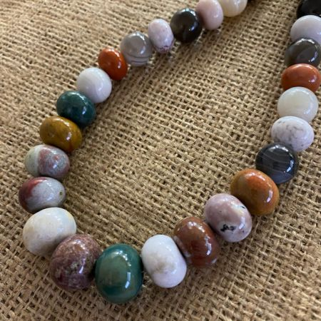 "Ocean Jasper and Persian Agate 20"" Necklace"