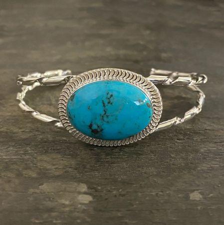 Southwestern Royal Blue Turquoise Cuff