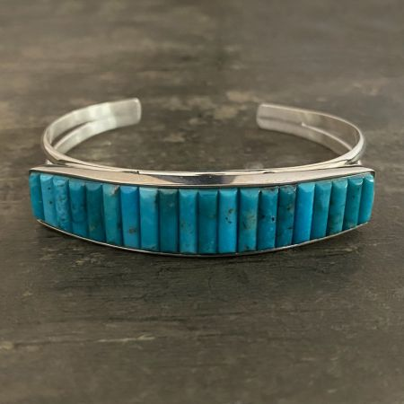 Royal Blue Turquoise Inlay Cuff