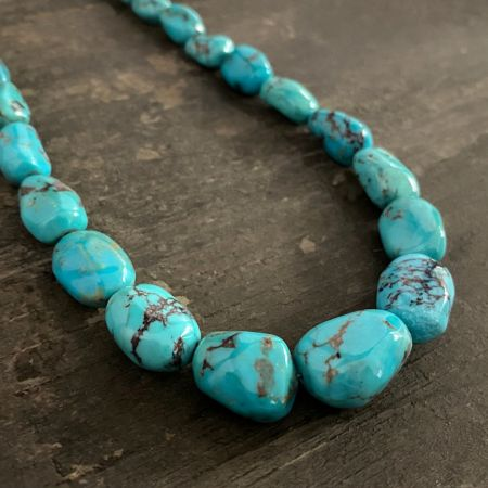 Turquoise Graduated Nugget Necklace