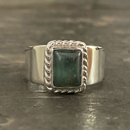 Apatite Rectangle Ring - Size 8