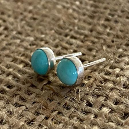 Chilean Turquoise Post Earrings