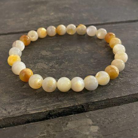 Yellow Shell Stretch Bracelet