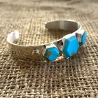 Golden Matrix Turquoise and Mexican Opal Cuff