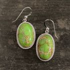 Green Emperial Jasper Earrings