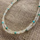 Citrine and Turquoise Two Strand Necklace