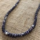 Purple Lepidolite Rondelle Necklace