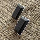 Wooden Stone Post Earrings