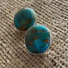 Turquoise Large Button Earrings