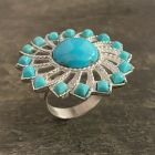 Campitos Turquoise Sunflower Ring - Size 7