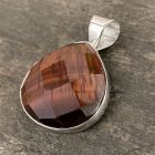 Faceted Red Tiger Eye Pendant